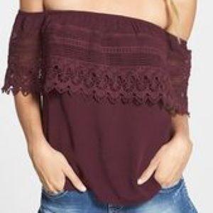 Socialite Crochet Off The Shoulder Top